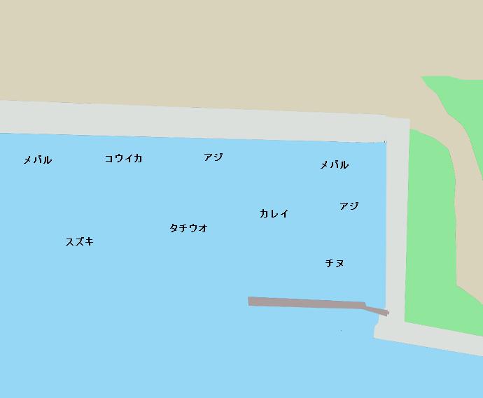 宇品波止場公園ポイント図