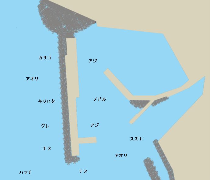 梅浦漁港ポイント図
