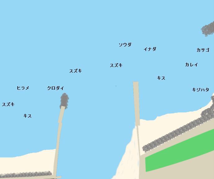 海川河口ポイント図