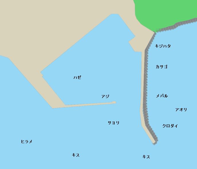 宇波漁港ポイント図