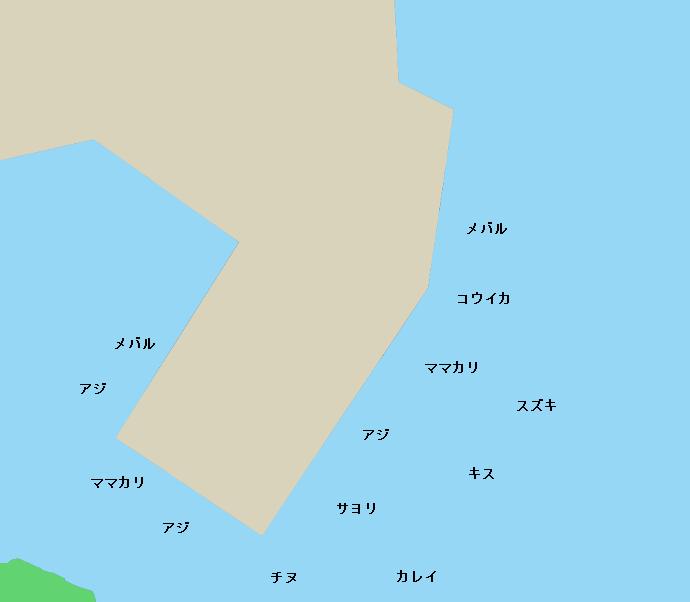 宇野港ポイント図