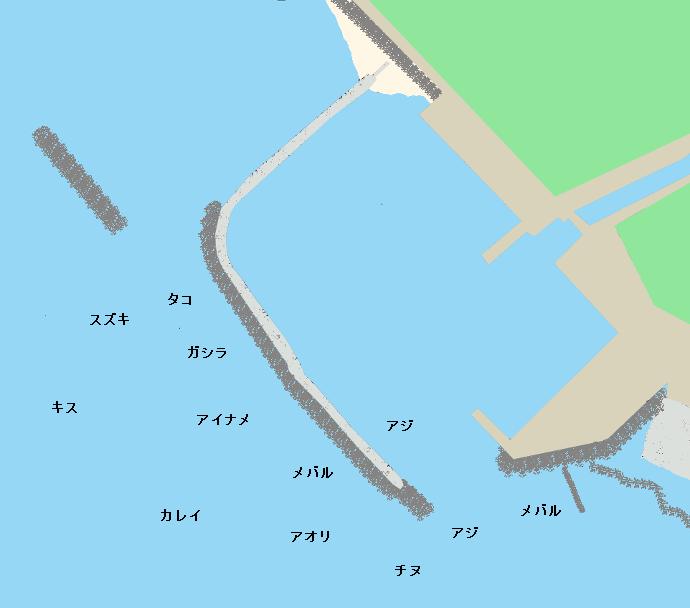 魚住漁港ポイント図
