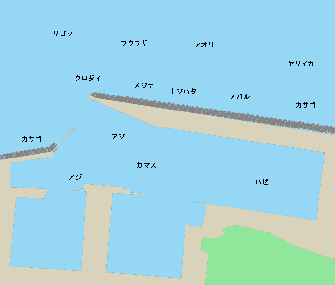 魚津漁港ポイント図
