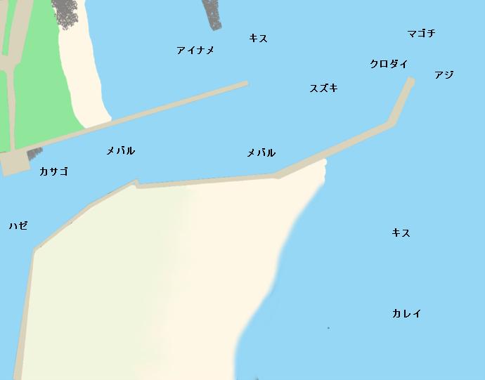 磯津漁港ポイント図