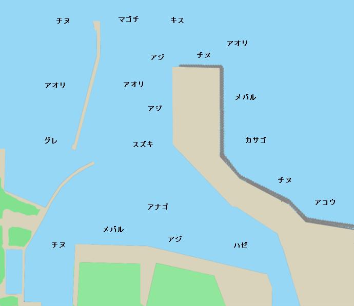 宇島港ポイント図