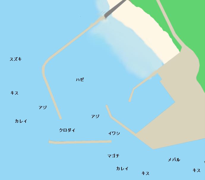 内海新港ポイント図