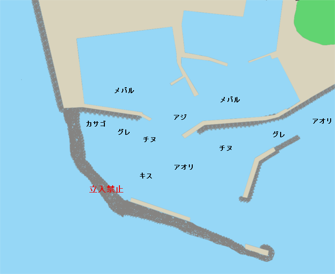 和具漁港ポイント図