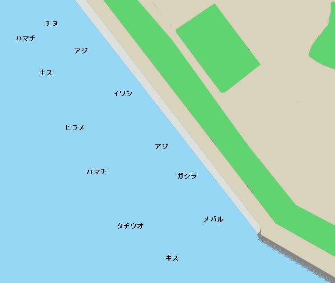 和歌山北港釣り公園ポイント図