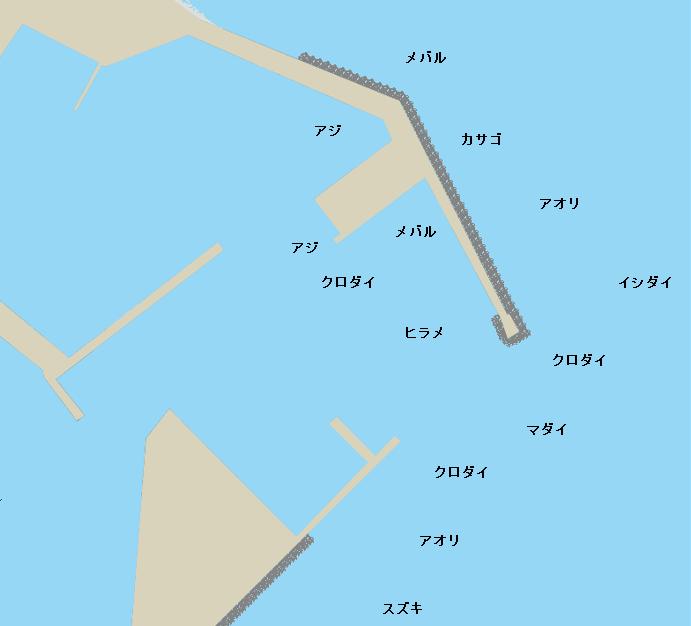 輪島港ポイント図