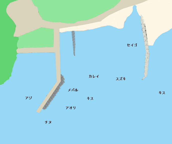 八代港ポイント図