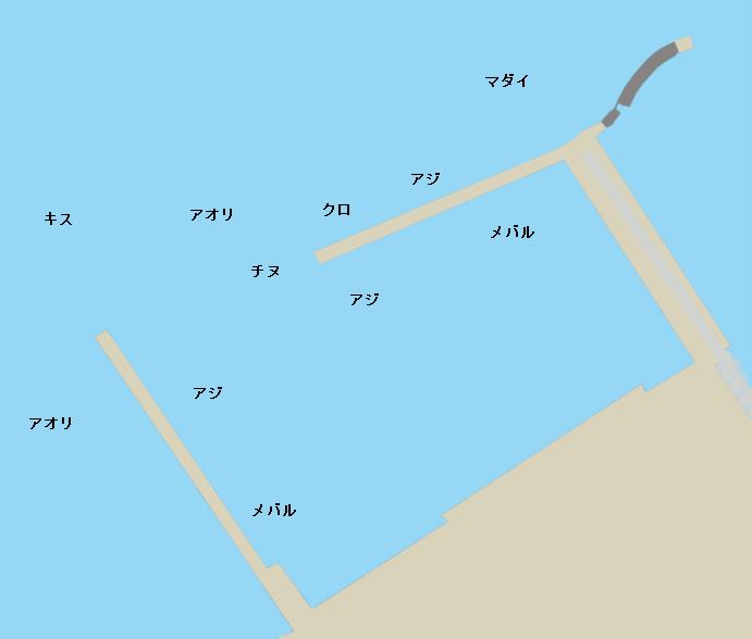 呼子港ポイント図
