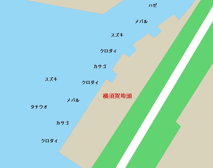 横須賀埠頭ポイント図