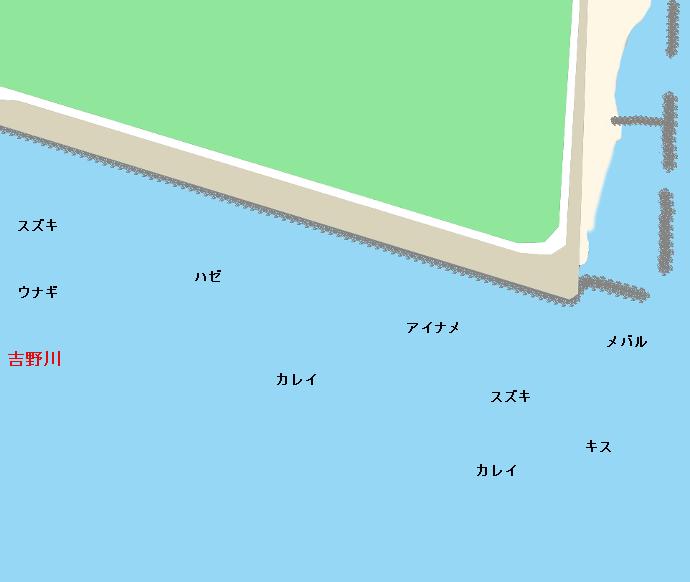 吉野川河口ポイント図