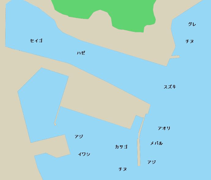 吉津港ポイント図