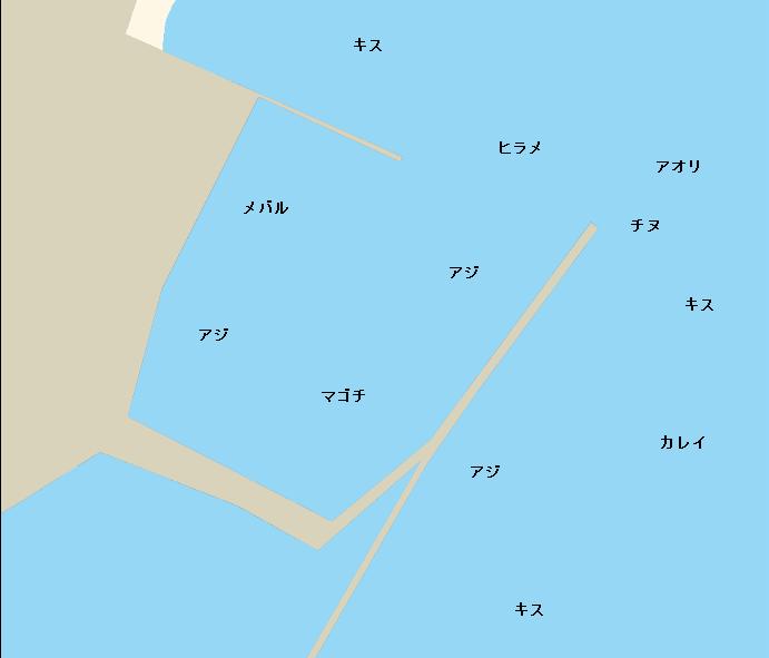 養老漁港ポイント図