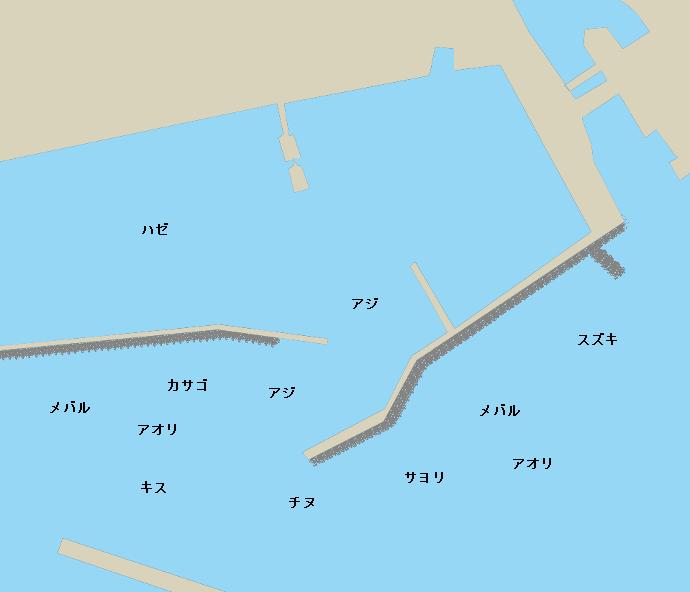 床波漁港ポイント図