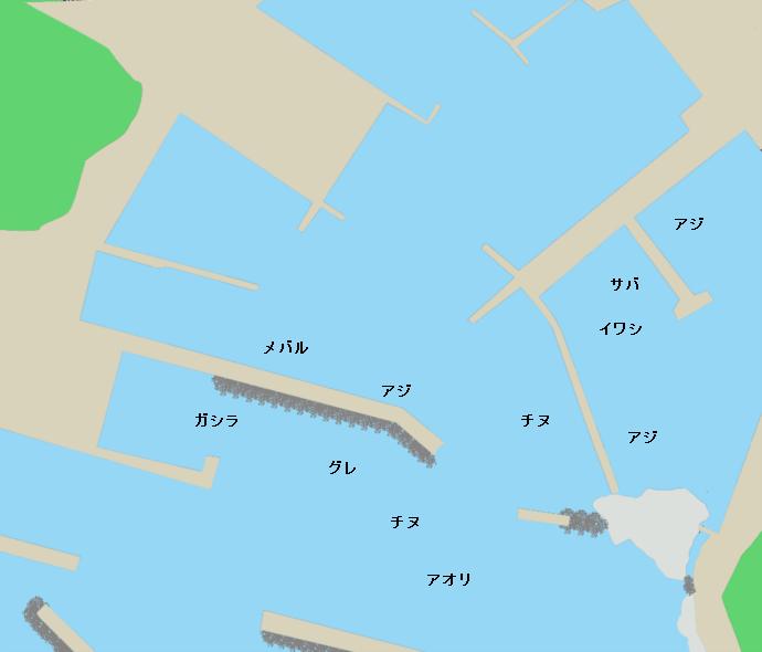 雑賀崎漁港ポイント図