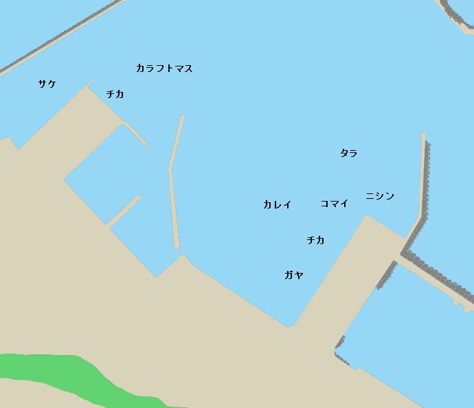 網走港ポイント図