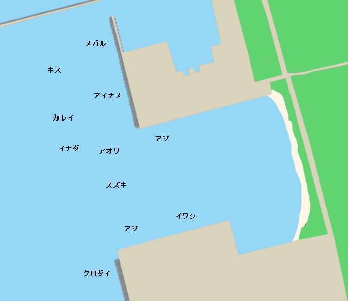 秋田マリーナポイント図