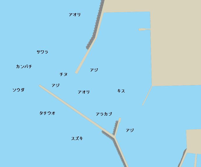 阿久根新港ポイント図