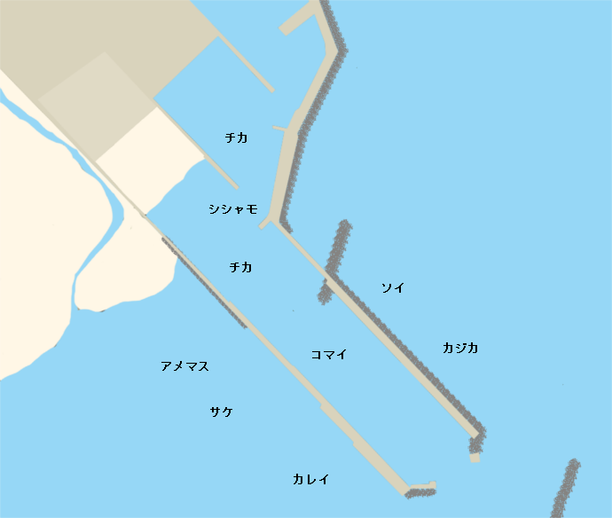 厚内漁港ポイント図