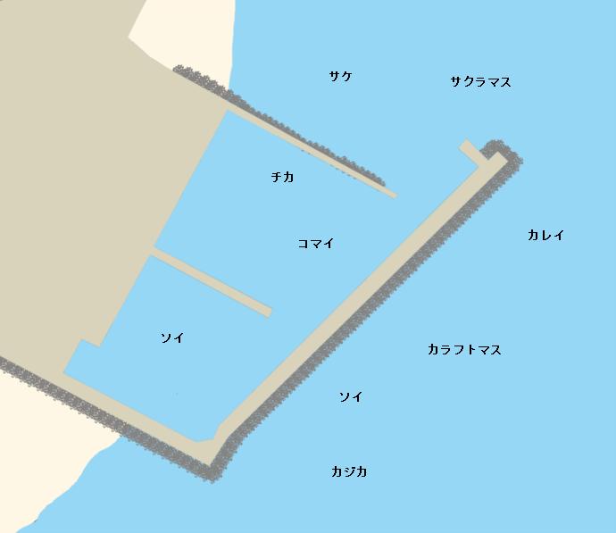 旭浜漁港ポイント図