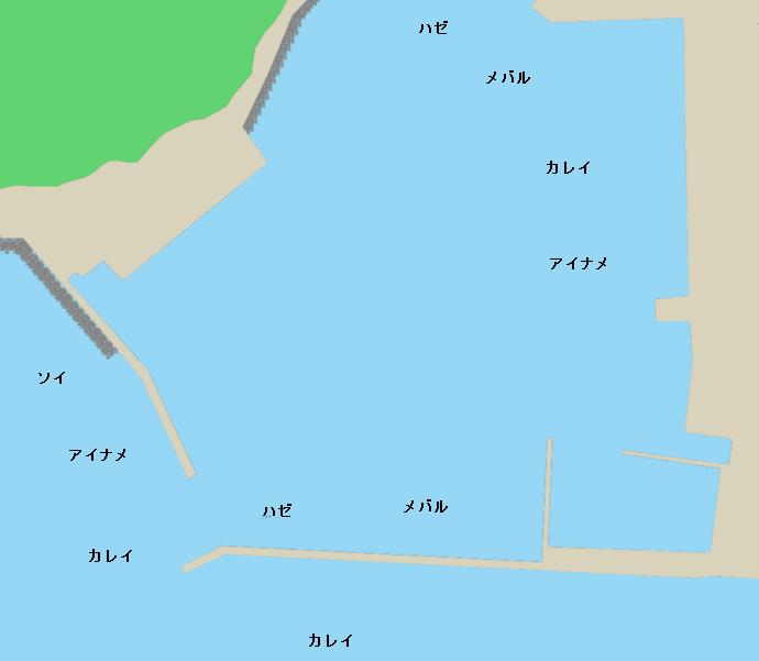 鮎川港ポイント図