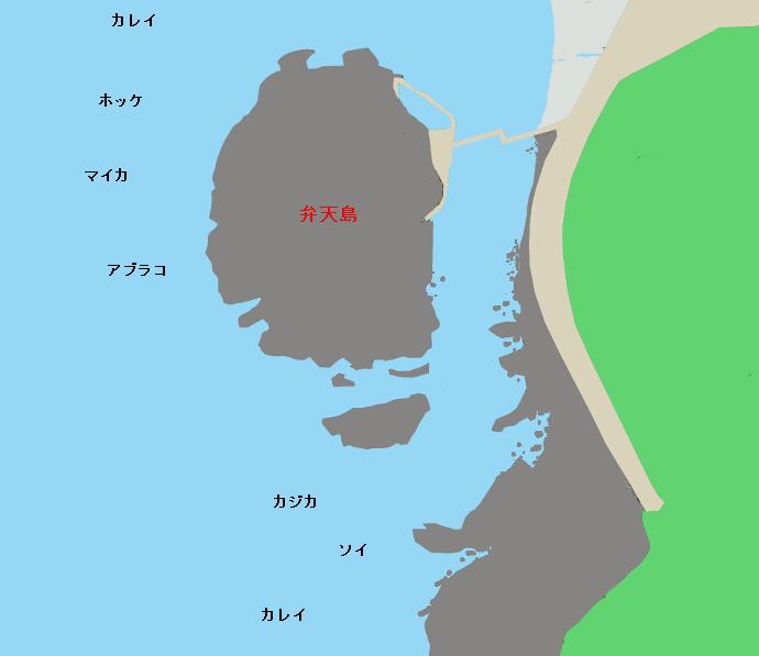 泊村弁天島ポイント図