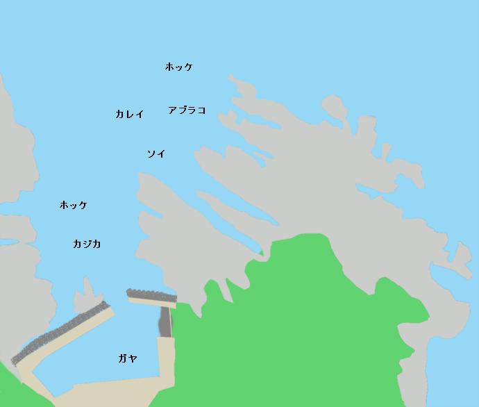 弁慶岬ポイント図