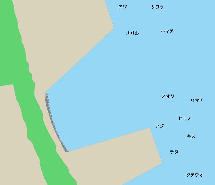 延岡新港ポイント図