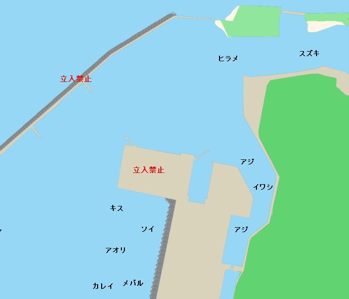 能代港ポイント図
