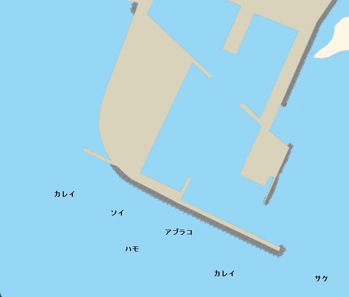 伊達漁港ポイント図