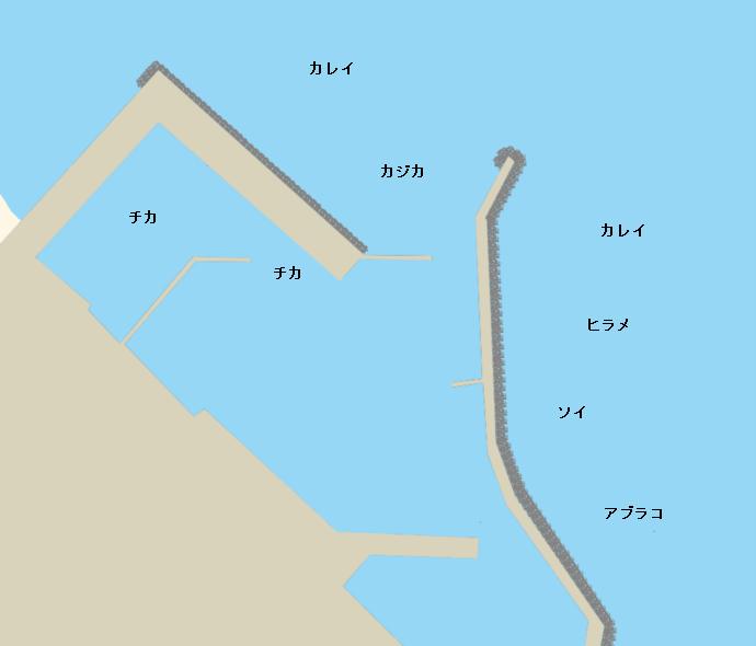 鹿部漁港ポイント図