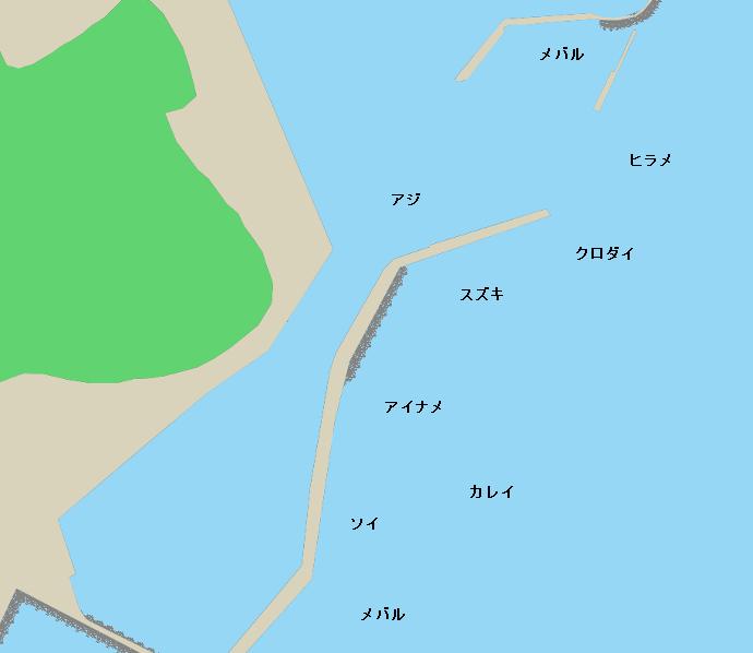 江名港ポイント図