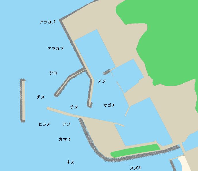 江口漁港ポイント図