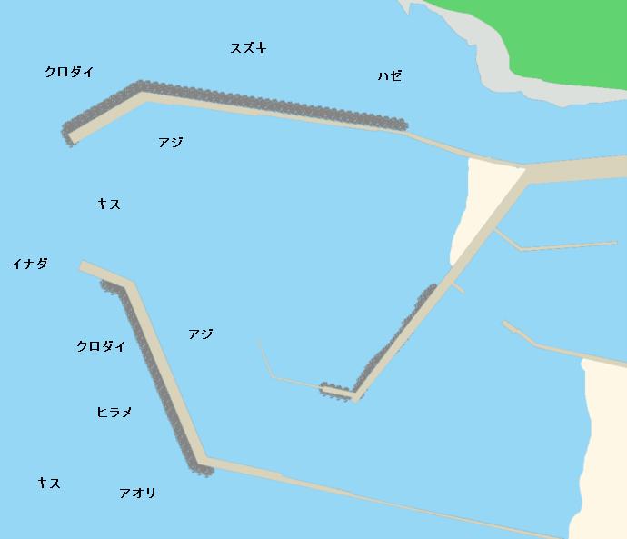 吹浦漁港ポイント図
