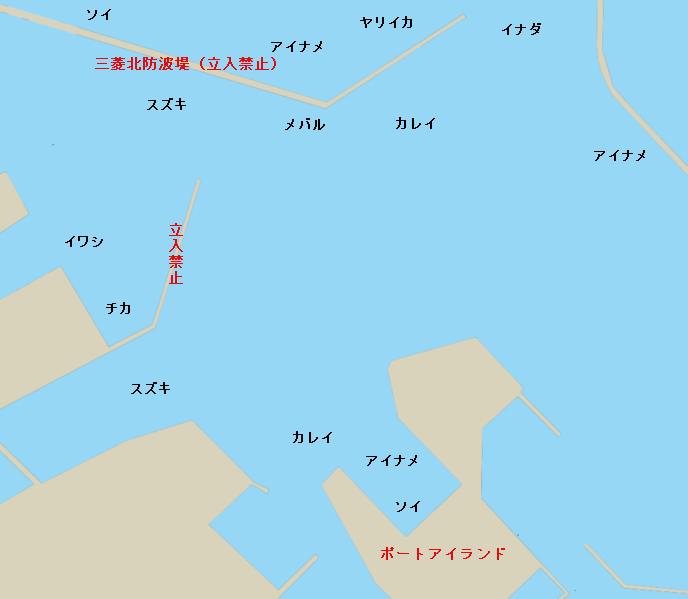 八戸港ポイント図