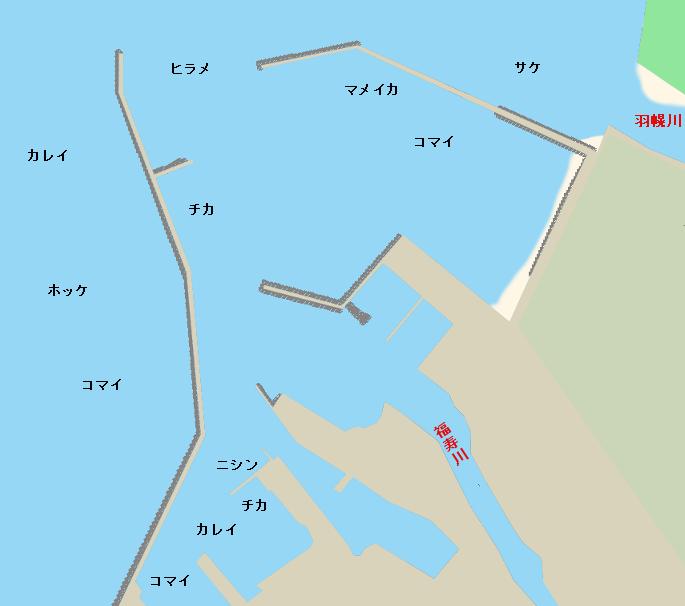 羽幌港ポイント図