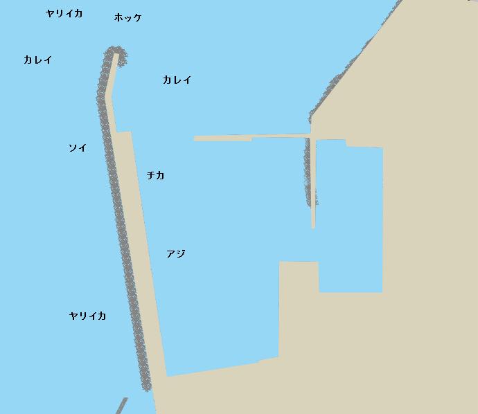 函館漁港ポイント図