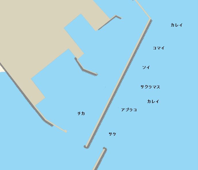白老港ポイント図