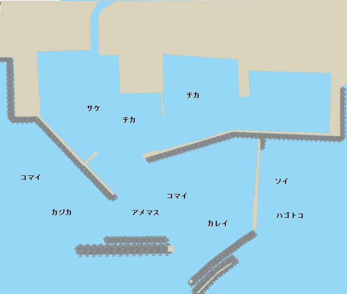 白糠漁港ポイント図