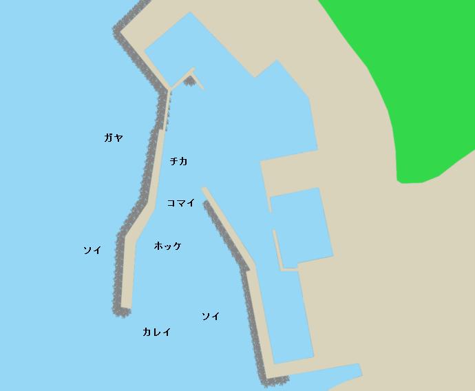 浜益漁港ポイント図