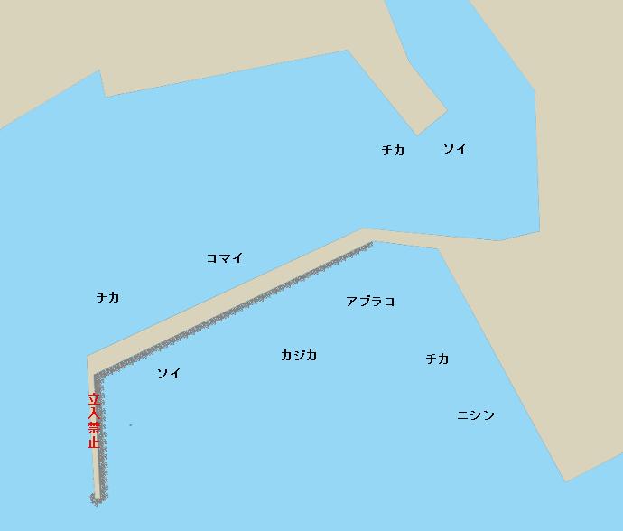 花咲港ポイント図