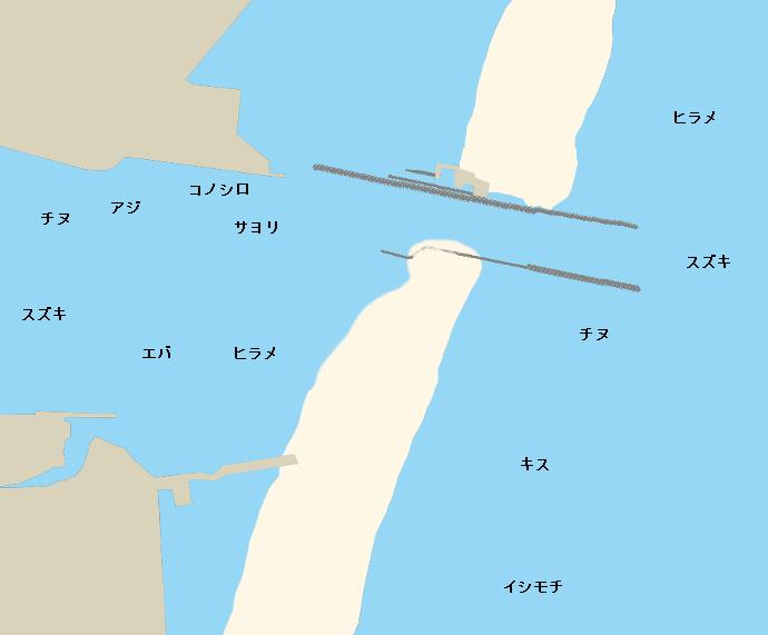 一ツ瀬川河口ポイント図