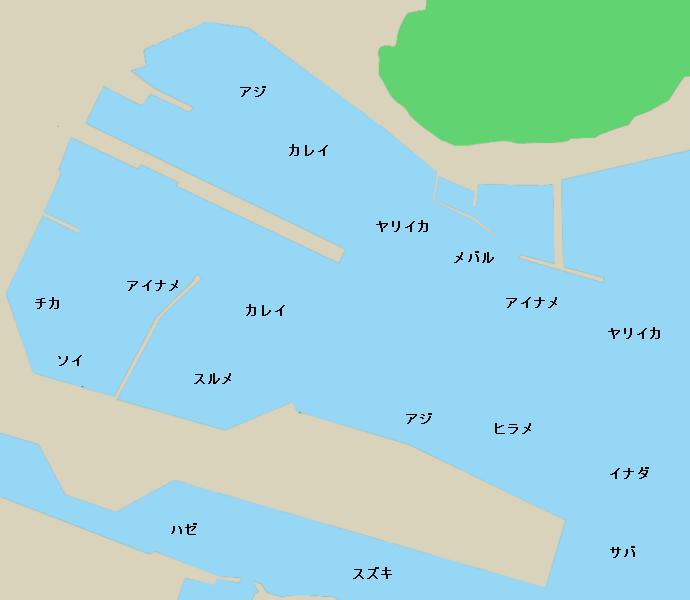 釜石港ポイント図