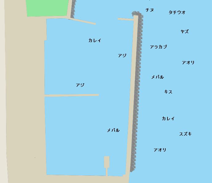 亀川漁港ポイント図