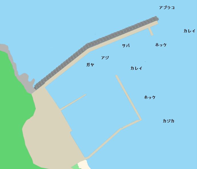 上ノ国漁港ポイント図.