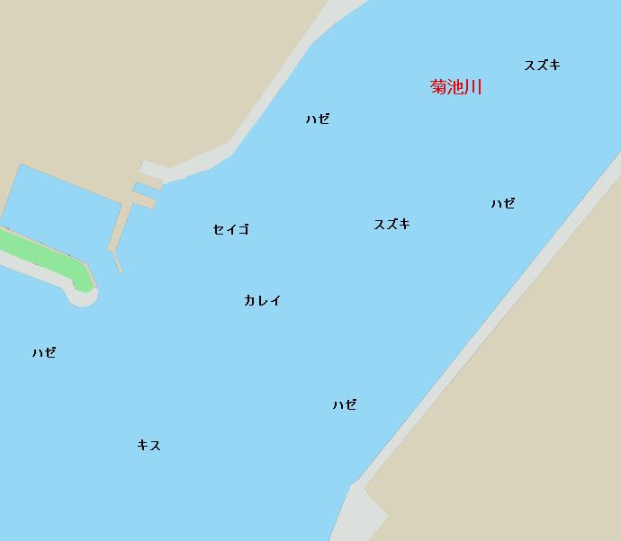 菊池川河口ポイント図
