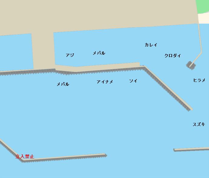 石巻漁港ポイント図