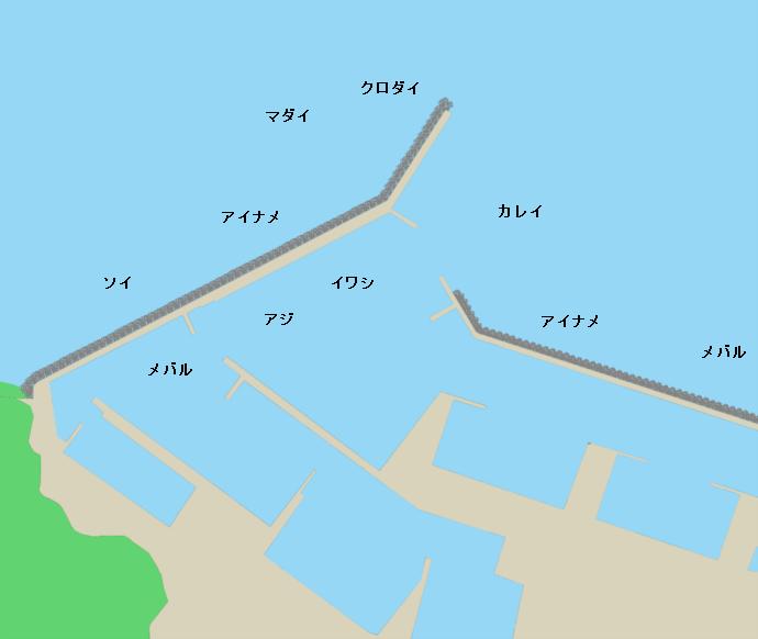 小泊漁港ポイント図